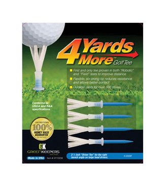 Green Keepers 4 MORE YARDS GOLF TEE 3 1/4""