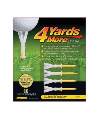 Green Keepers 4 MORE YARDS GOLF TEE 2 3/4""