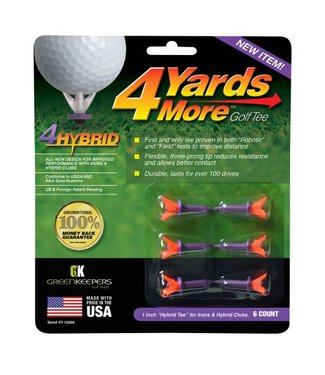 "Green Keepers 4 MORE YARDS GOLF TEE 1"" HYBRID"
