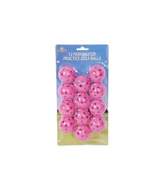 On Course 12 PERFORATED GOLF BALLS PINK