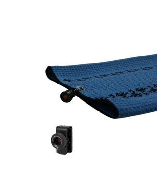 Frogger TRAX GOLF TOWEL WITH CATCH LATCH - BLUE
