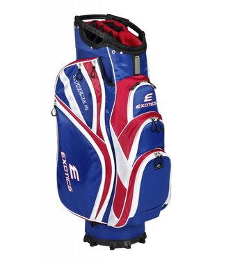 Tour Edge EXOTICS EXTREME 4 CART BAG RED/WHITE/BLUE