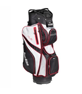 Tour Edge HL3 ULTRA-LIGHT CART BAG BLK/SLVR/RED