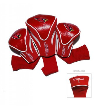 Team Golf ARIZONA CARDINALS 3 Pack Contour Golf Head Covers