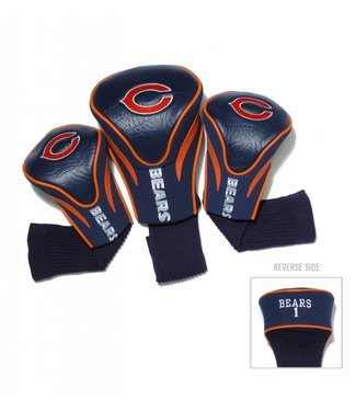 Team Golf CHICAGO BEARS 3 Pack Contour Golf Head Covers