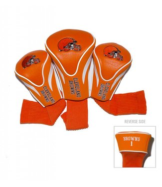 Team Golf CLEVELAND BROWNS 3 Pack Contour Golf Head Covers