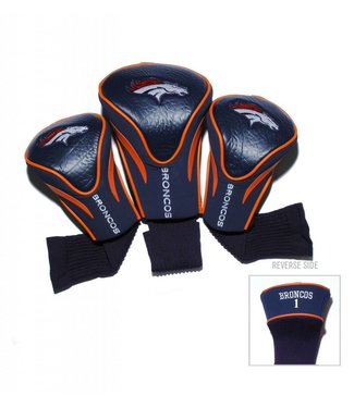 Team Golf DENVER BRONCOS 3 Pack Contour Golf Head Covers