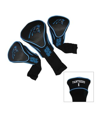 Team Golf CAROLINA PANTHERS 3 Pack Contour Golf Head Covers