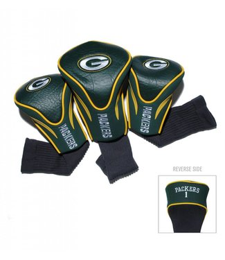 Team Golf GREEN BAY PACKERS 3 Pack Contour Golf Head Covers