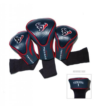 Team Golf HOUSTON TEXANS 3 Pack Contour Golf Head Covers