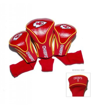 Team Golf KANSAS CITY CHIEFS 3 Pack Contour Golf Head Covers