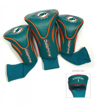 Team Golf MIAMI DOLPHINS 3 Pack Contour Golf Head Covers