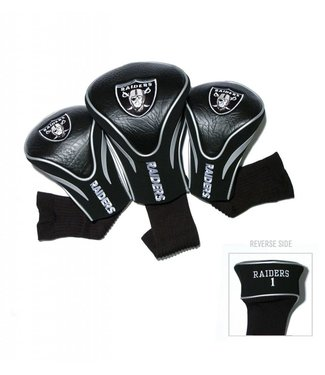 Team Golf OAKLAND RAIDERS 3 Pack Contour Golf Head Covers