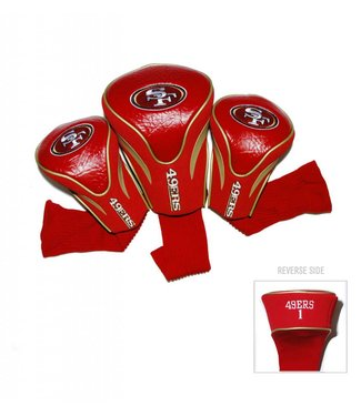 Team Golf SAN FRANCISCO 49ERS 3 Pack Contour Golf Head Covers