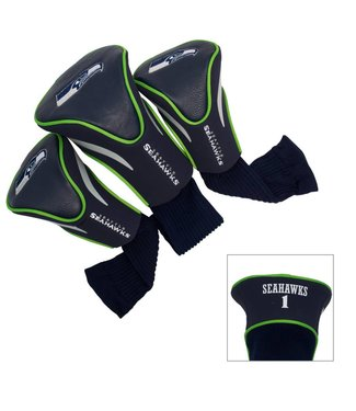 Team Golf SEATTLE SEAHAWKS 3 Pack Contour Golf Head Covers