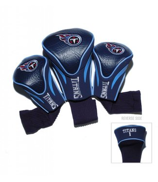 Team Golf TENNESSEE TITANS 3 Pack Contour Golf Head Covers