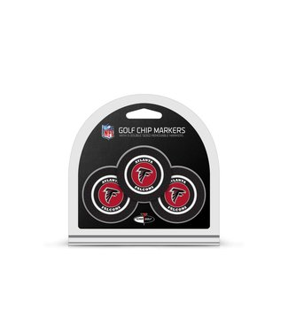 Team Golf ATLANTA FALCONS 3 Pack Golf Chip Ball Markers