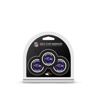 Team Golf BALTIMORE RAVENS 3 Pack Golf Chip Ball Markers
