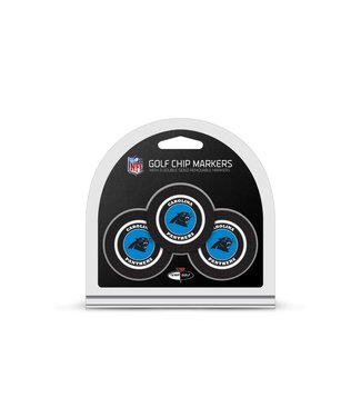 Team Golf CAROLINA PANTHERS 3 Pack Golf Chip Ball Markers