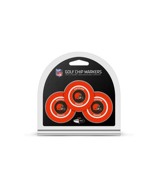 Team Golf CLEVELAND BROWNS 3 Pack Golf Chip Ball Markers