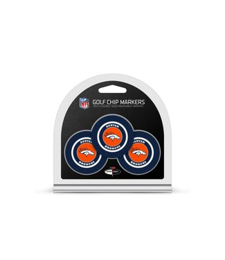 Team Golf DENVER BRONCOS 3 Pack Golf Chip Ball Markers
