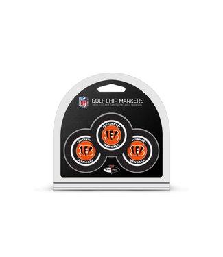 Team Golf CINCINNATI BENGALS 3 Pack Golf Chip Ball Markers