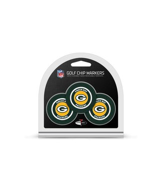 Team Golf GREEN BAY PACKERS 3 Pack Golf Chip Ball Markers