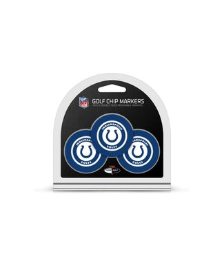 Team Golf INDIANAPOLIS COLTS 3 Pack Golf Chip Ball Markers