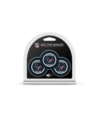 Team Golf HOUSTON TEXANS 3 Pack Golf Chip Ball Markers