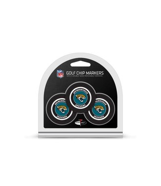 Team Golf JACKSONVILLE JAGUARS 3 Pack Golf Chip Ball Markers