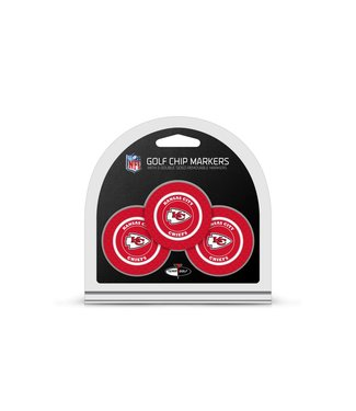 Team Golf KANSAS CITY CHIEFS 3 Pack Golf Chip Ball Markers