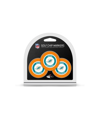 Team Golf MIAMI DOLPHINS 3 Pack Golf Chip Ball Markers
