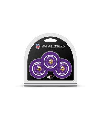 Team Golf MINNESOTA VIKINGS 3 Pack Golf Chip Ball Markers