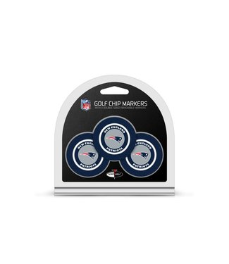 Team Golf NEW ENGLAND PATRIOTS 3 Pack Golf Chip Ball Markers