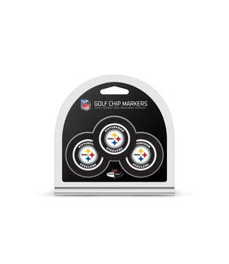 Team Golf PITTSBURGH STEELERS 3 Pack Golf Chip Ball Markers