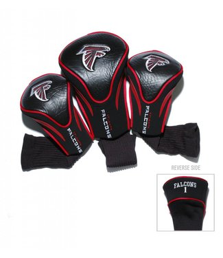 Team Golf ATLANTA FALCONS 3 Pack Contour Golf Head Covers