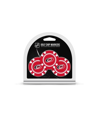 Team Golf CAROLINA HURRICANES 3 Pack Golf Chip Ball Markers