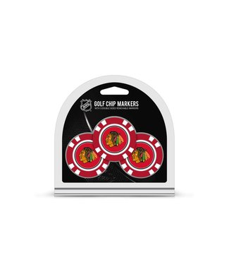 Team Golf CHICAGO BLACKHAWKS 3 Pack Golf Chip Ball Markers