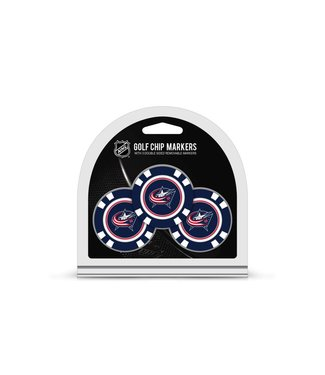 Team Golf COLUMBUS BLUE JACKETS 3 Pack Golf Chip Ball Markers