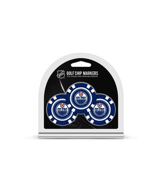 Team Golf EDMONTON OILERS 3 Pack Golf Chip Ball Markers