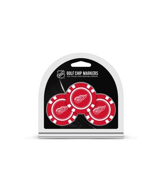 Team Golf DETROIT RED WINGS 3 Pack Golf Chip Ball Markers