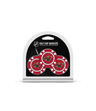 Team Golf MINNESOTA WILD 3 Pack Golf Chip Ball Markers