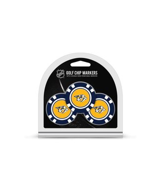Team Golf NASHVILLE PREDATORS 3 Pack Golf Chip Ball Markers