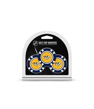 Team Golf NASHVILLE PREDATORS 3 Pack Golf Chip Ball Markers