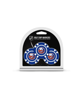 Team Golf NEW YORK ISLANDERS 3 Pack Golf Chip Ball Markers