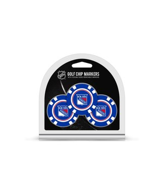 Team Golf NEW YORK RANGERS 3 Pack Golf Chip Ball Markers