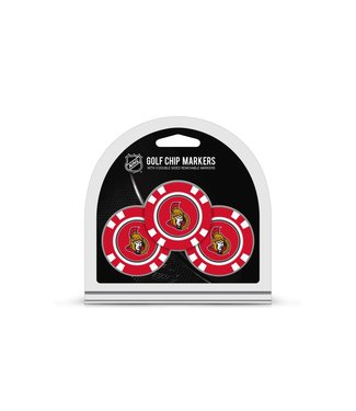 Team Golf OTTAWA SENATORS 3 Pack Golf Chip Ball Markers