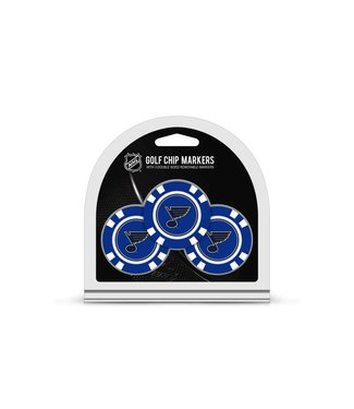 Team Golf ST LOUIS BLUES 3 Pack Golf Chip Ball Markers