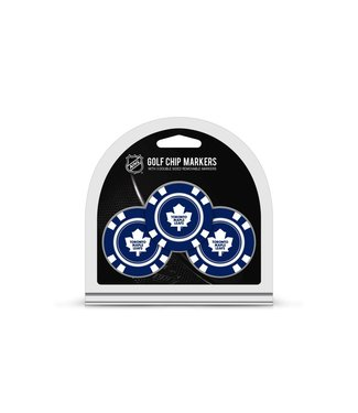 Team Golf TORONTO MAPLE LEAFS 3 Pack Golf Chip Ball Markers