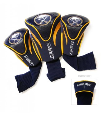 Team Golf BUFFALO SABRES 3 Pack Contour Golf Head Covers